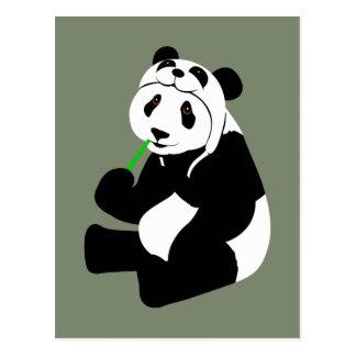 Gorra de la panda tarjetas postales