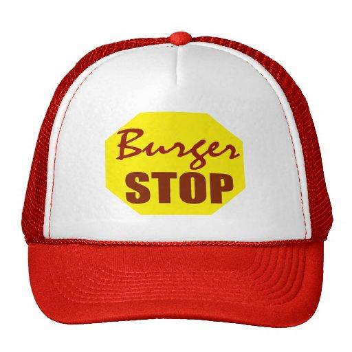 Gorra de la parada de la hamburguesa