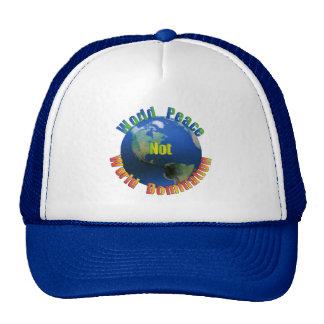 Gorra de la paz de mundo