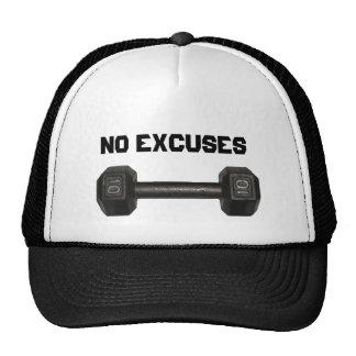 """Gorra de la pesa de gimnasia de """"ningunas excusas"""""""