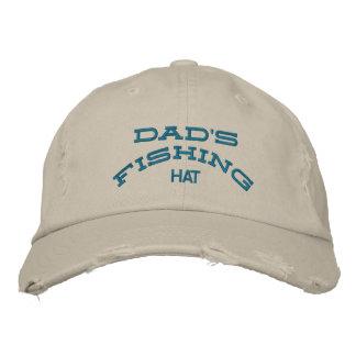 gorra de la pesca del papá gorros bordados