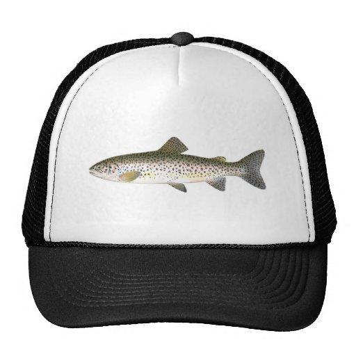 Gorra de la pesca - pescado de la trucha de color