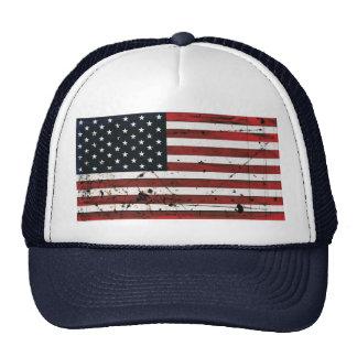 Gorra de la pintura del grunge de la bandera ameri