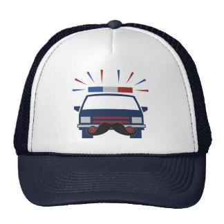 Gorra de la policía del bigote - elija el color