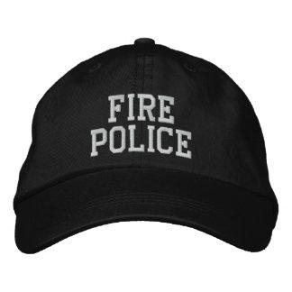 gorra de la policía del fuego gorra de béisbol bordada