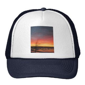 Gorra de la puesta del sol del lago ice