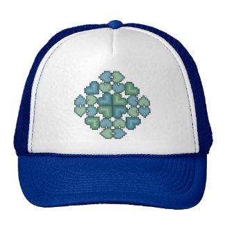 Gorra de la puntada de la cruz del cuadrado del ed
