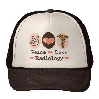 Gorra de la radiología del amor de la paz