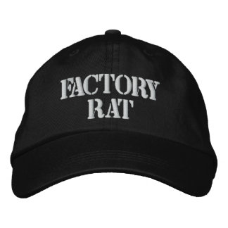 Gorra de la rata de la fábrica gorra de béisbol bordada