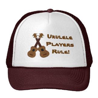 Gorra de la regla de los jugadores del Ukulele