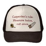 Gorra de la regla del carpintero