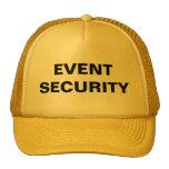 Gorra de la seguridad del acontecimiento