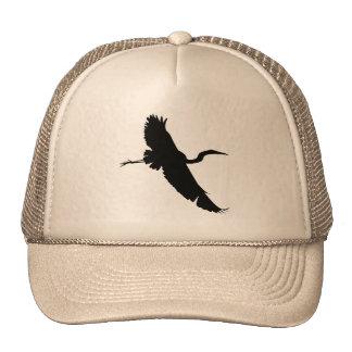 Gorra de la silueta del Egret 1 del vuelo