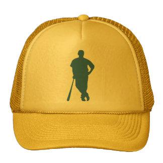 Gorra de la silueta del jugador de béisbol