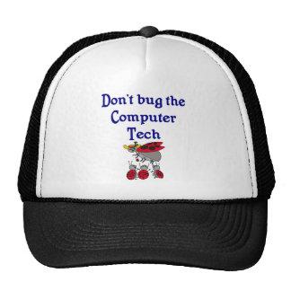 Gorra de la tecnología del ordenador