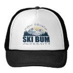 Gorra de la universidad del vago del esquí