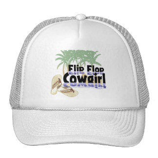 Gorra de la vaquera del flip-flop