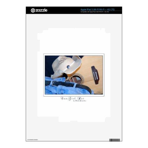 gorra de la vaquera iPad 3 pegatinas skins