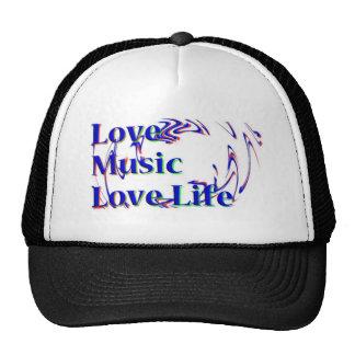 Gorra de la vida del amor de la música del amor