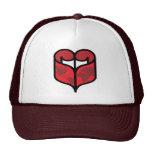 Gorra de la voluta del corazón