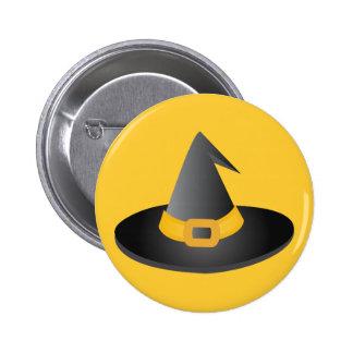 Gorra de las brujas de Halloween Pin Redondo 5 Cm