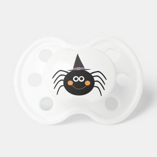 Gorra de las brujas de la araña que lleva chupete de bebé