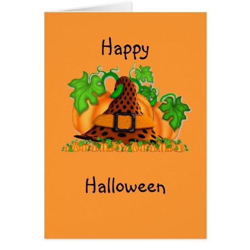 Gorra de las brujas tarjeta de felicitación