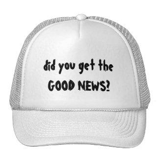 Gorra de las buenas noticias