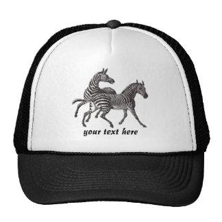 Gorra de las cebras del vintage