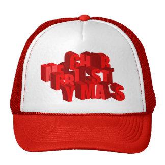 gorra de las Felices Navidad 3D