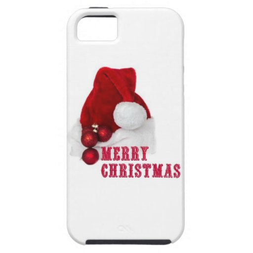 Gorra de las Felices Navidad iPhone 5 Case-Mate Funda