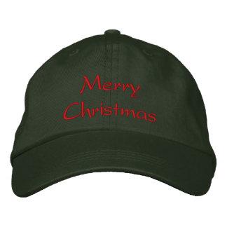 Gorra de las Felices Navidad Gorra De Béisbol Bordada