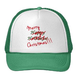 Gorra de las Felices Navidad no buenas fiestas