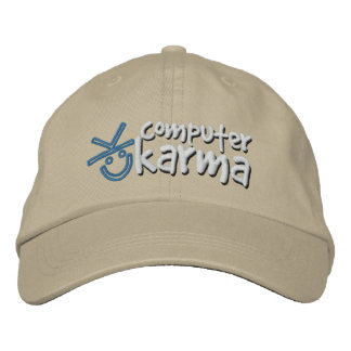 Gorra de las karmas del ordenador gorras bordadas