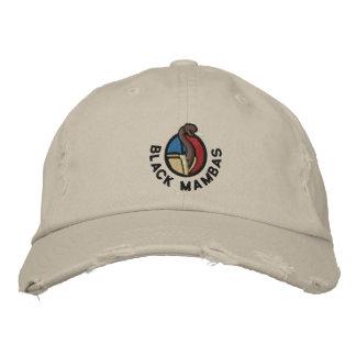 Gorra de las mambas negras gorras bordadas