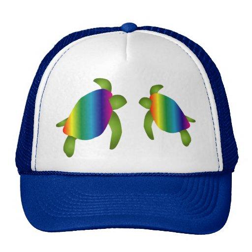 Gorra de las tortugas del arco iris