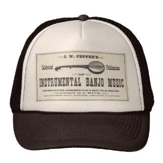 Gorra de los camioneros de la música del banjo