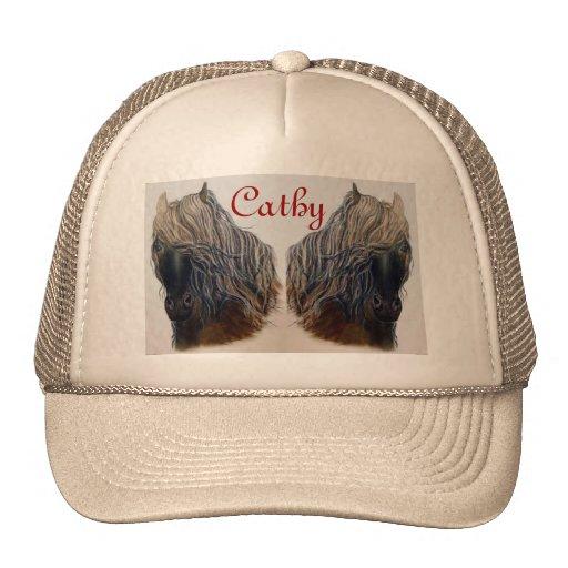 Gorra de los camioneros de los caballos del mustan
