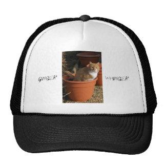 Gorra de los camioneros del gato de Tom del jengib