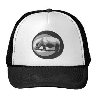 Gorra de los camioneros del símbolo del rinoceront