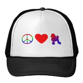 Gorra de los caniches del amor de la paz
