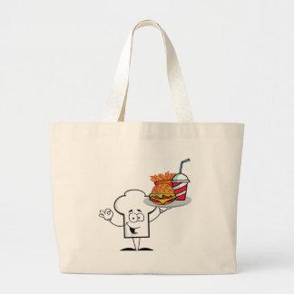 Gorra de los cocineros del dibujo animado bolsa