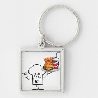 Gorra de los cocineros del dibujo animado llaveros personalizados