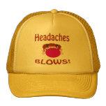 Gorra de los dolores de cabeza de los soplos