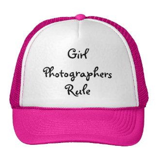 Gorra de los fotógrafos del chica