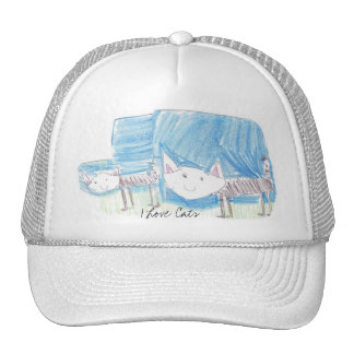 Gorra de los gatos del amor del I de Freya