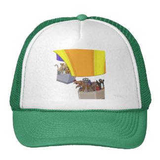 Gorra de los gatos del globo