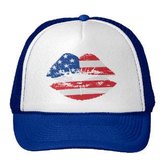 Gorra de los labios de la bandera de los E.E.U.U.
