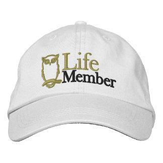 Gorra de los miembros vitalicios - algodón, ajusta gorra bordada