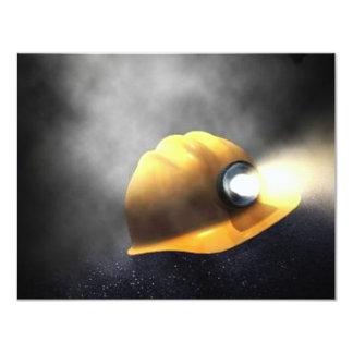 """gorra de los mineros de carbón invitación 4.25"""" x 5.5"""""""